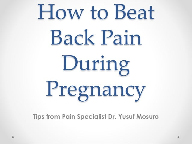 Advice for pregnancy back pain x ray
