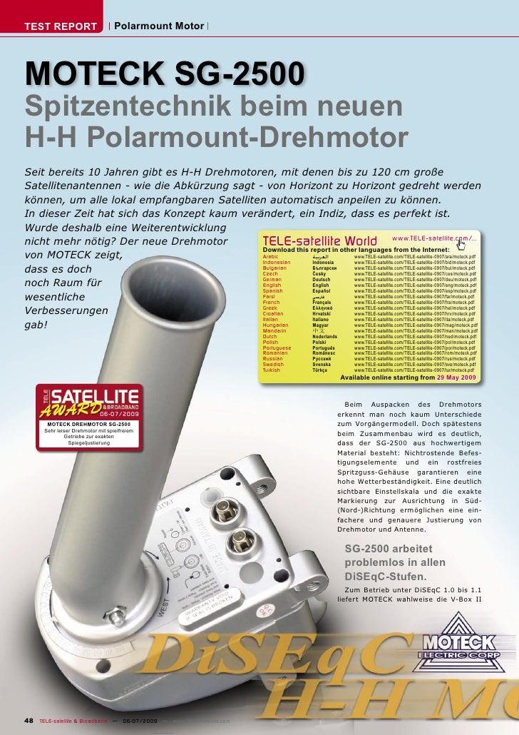 TEST REPORT                        Polarmount Motor     MOTECK SG-2500 Spitzentechnik beim neuen H-H Polarmount-Drehmotor ...