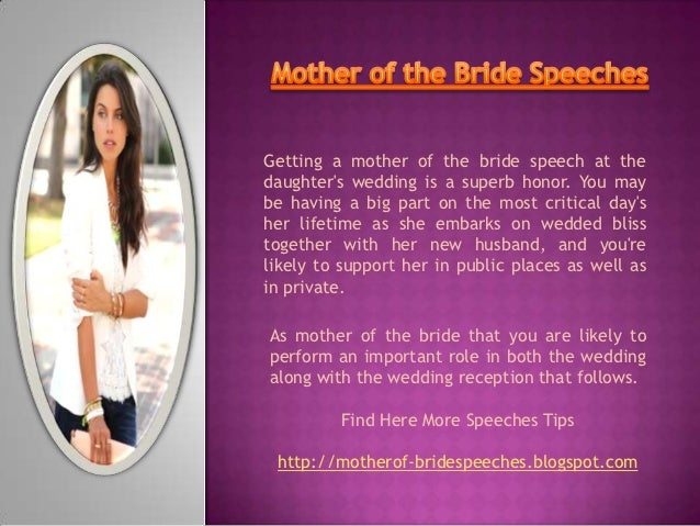 Mother of the bride speeches - Wedding Speeches