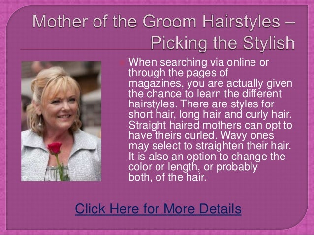 Hairstyles For Long Hair For Mother Of The Groom : Mother of the groom hairstyles  picking the