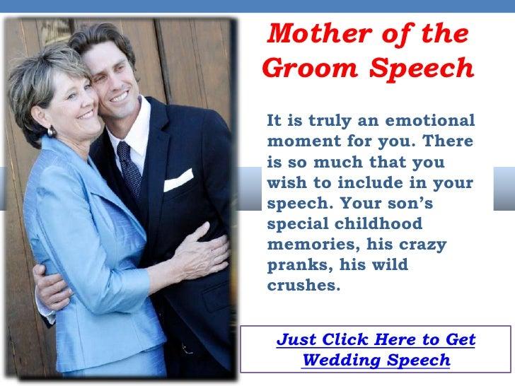 Mother Of The Groom Wedding Speeches
