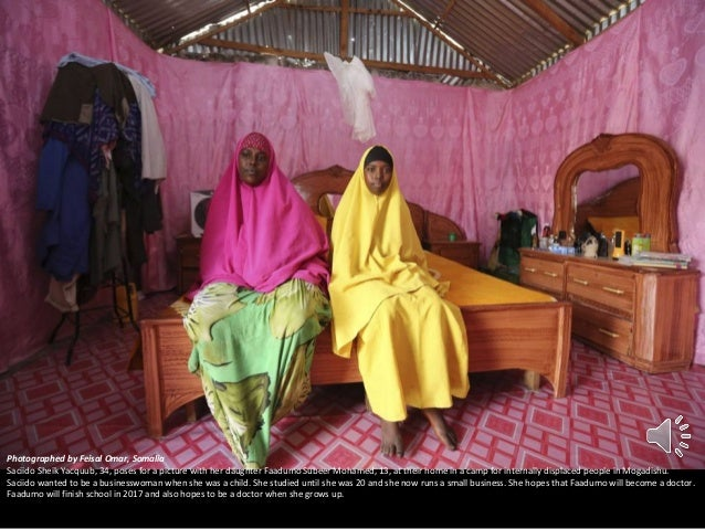 Photographed by Feisal Omar, Somalia Saciido Sheik Yacquub, 34, poses for a picture with her daughter Faadumo Subeer Moham...