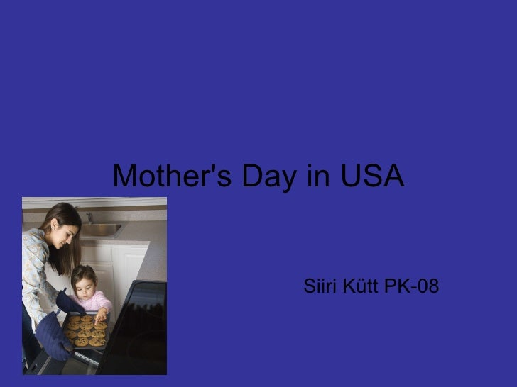 Mother's Day in USA Siiri Kütt PK-08