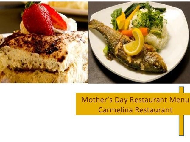 Mother's Day Restaurant Menu for Brunch& Dinner Surprise To Moms