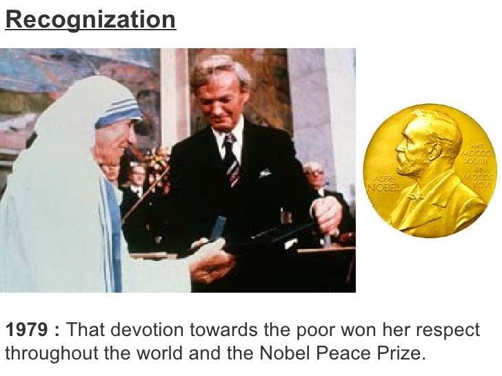 Mother Teresa Nobel Prize Winner Mother Teresa