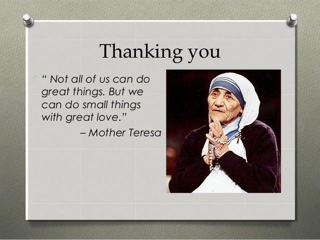 Short Essay On Mother Teresa