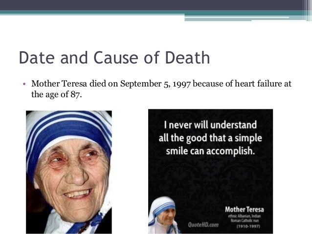 how did mother teresa influence society Why mother teresa still matters  it's as if the more polarized and fragmented a society we become, the less agreement there is on who should be .