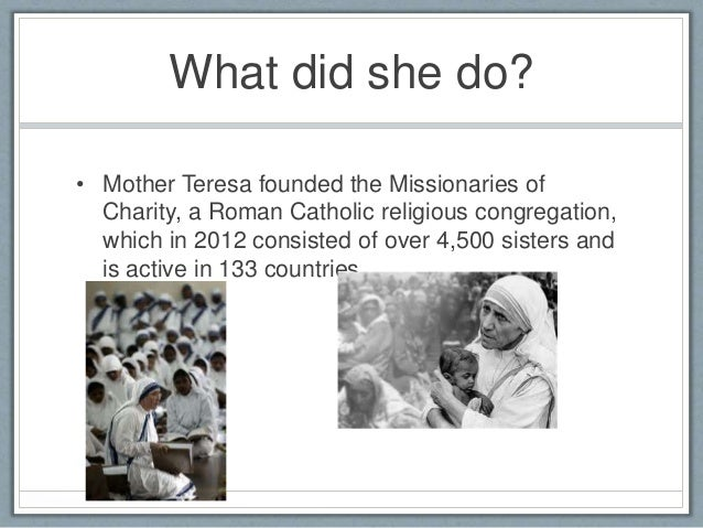 mother teresa conclusion essay Writing sample of essay on a given topic role model mother teresa.
