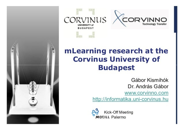 mLearning research at Corvinus University of Budapest