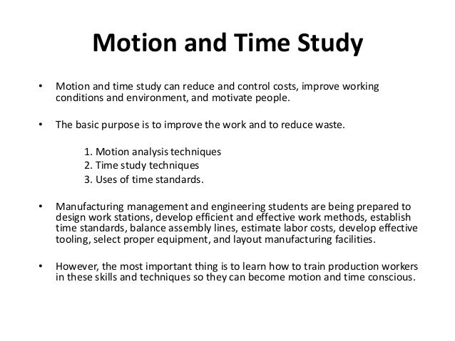 Time and motion study - Wikipedia