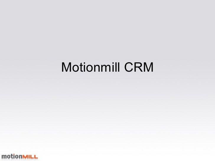 Motionmill CRM