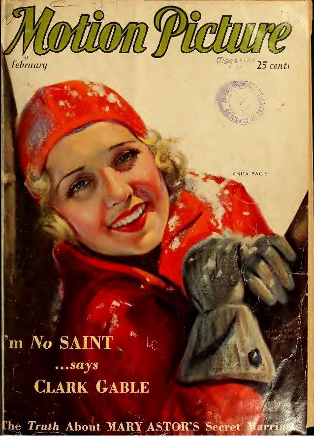 "mFfJt 9 m±. o 25 cents ANITA PAG E U*"" m No SAINT,, i ...says Clark Gablem m&&&tSm C he Truth About MARY ASTGR'S Secret Ka..."
