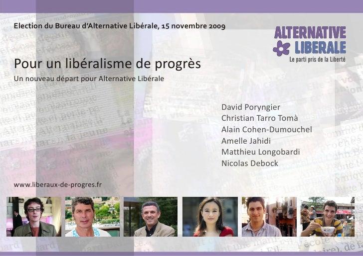Motion pour un libéralisme de progrès
