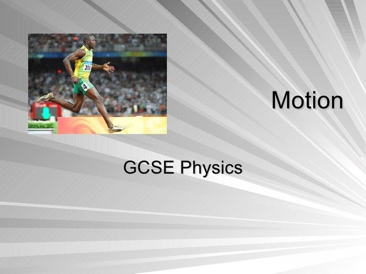 Motion GCSE Physics