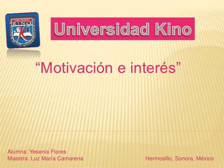 Motivación e Interes