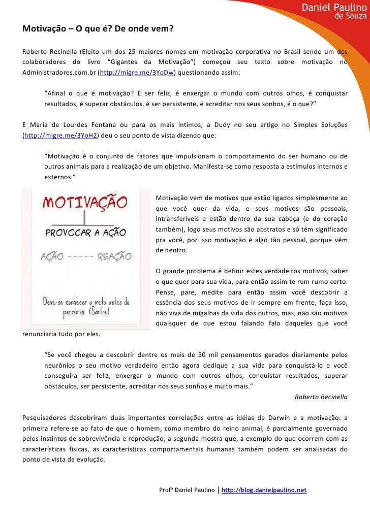 Motivação – O que é? De onde vem?Roberto Recinella (Eleito um dos 25 maiores nomes em motivação corporativa no Brasil send...
