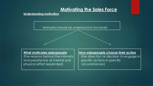 motivating the salesforce The question of how to motivate sales reps and inspire their  set will vary by  company and industry, but tools like salesforce crm, springcm,.
