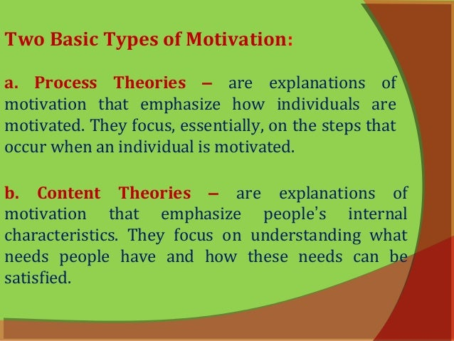 principles on the theories of motivation In this post, i suggest five principles that might help clarify matters  these principles may of course overlap and/or be sub-divided into sub-principles motivation.