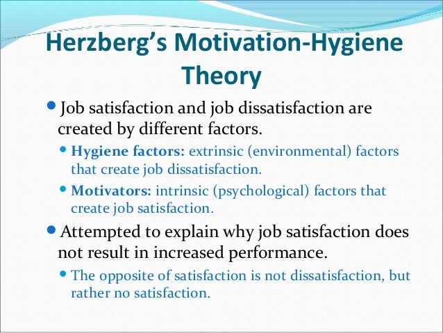 Job satisfaction: theories and definitions