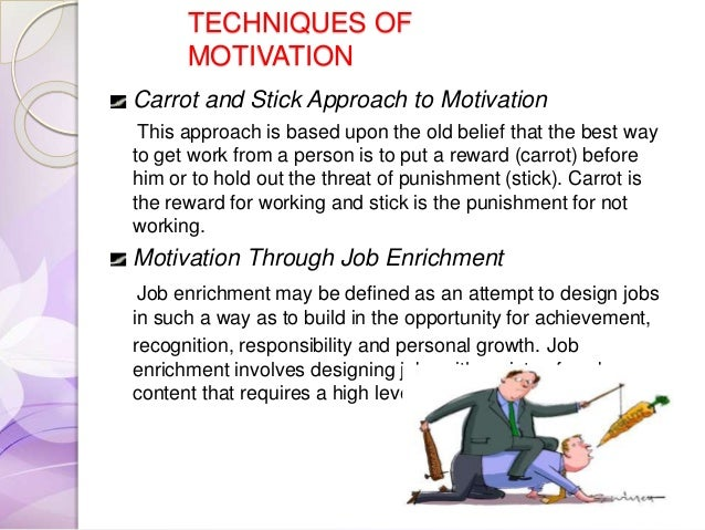 the carrot and stick approach to motivation