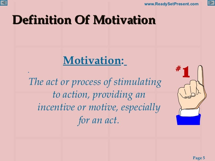 defination of motivation What is motivation the difference between intrinsic motivation and extrinsic motivation is explored, along with an explanation of team motivation.