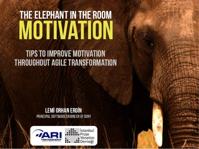The elephant in the room motivation   Tips to ımprove motivationthroughout agile transformation           Lemİ Orhan ERGİN...