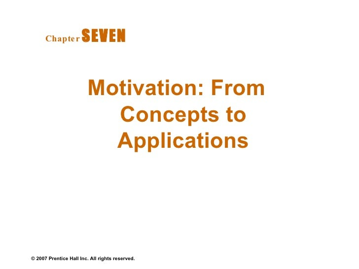 Motivation: From Concepts to Applications Chapter   SEVEN