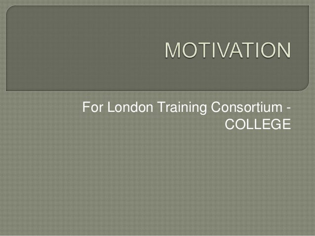 For London Training Consortium -COLLEGE
