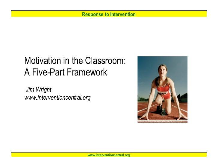 Motivation 5 part_framework