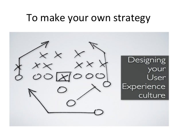To make your own strategy
