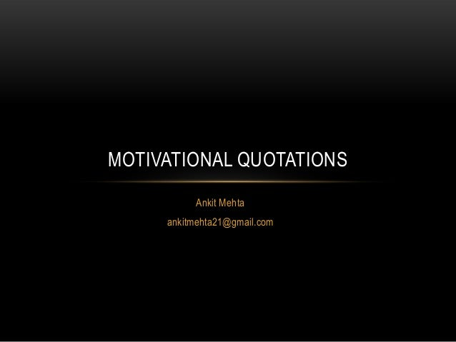 Motivational quotations