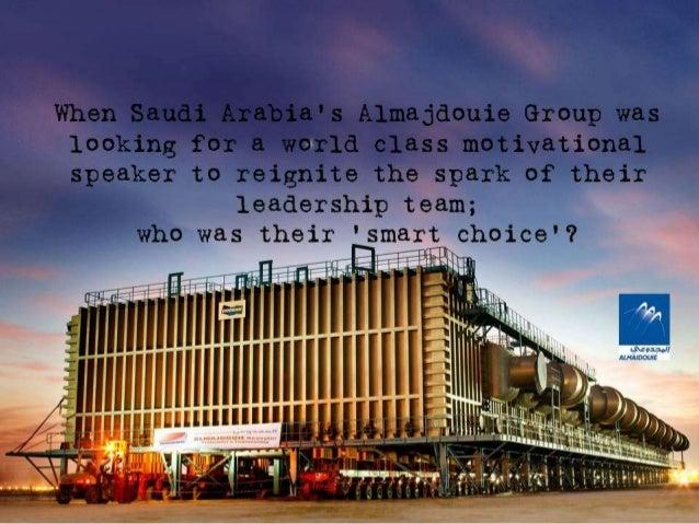 Motivational Speakers and Corporate Trainers in Saudi Arabia