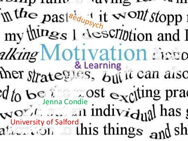 & Learning         Jenna CondieUniversity of Salford                                1