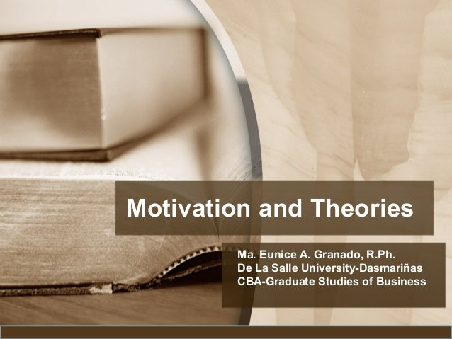Motivation and theories