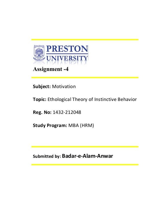 Motivation assignment 4