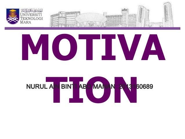 Motivation ppr edm703