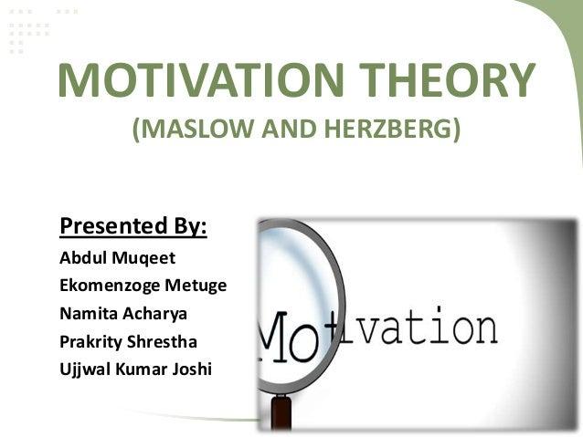 maslow theory of motivation pdf