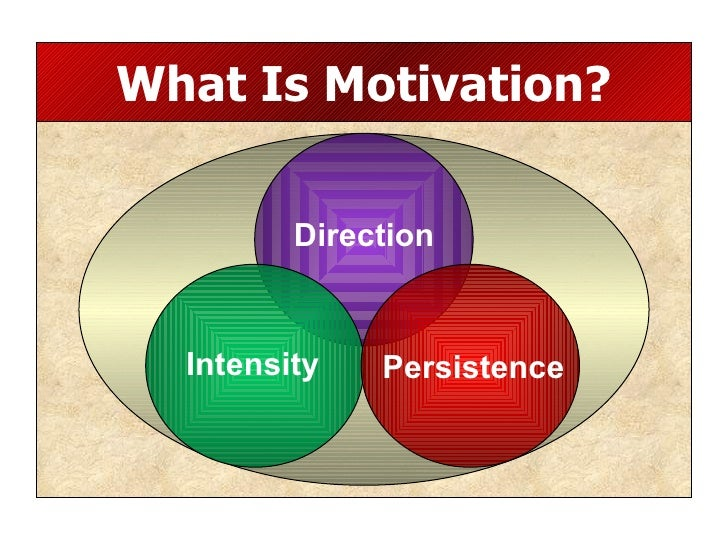 What Is Motivation? Persistence Intensity Direction