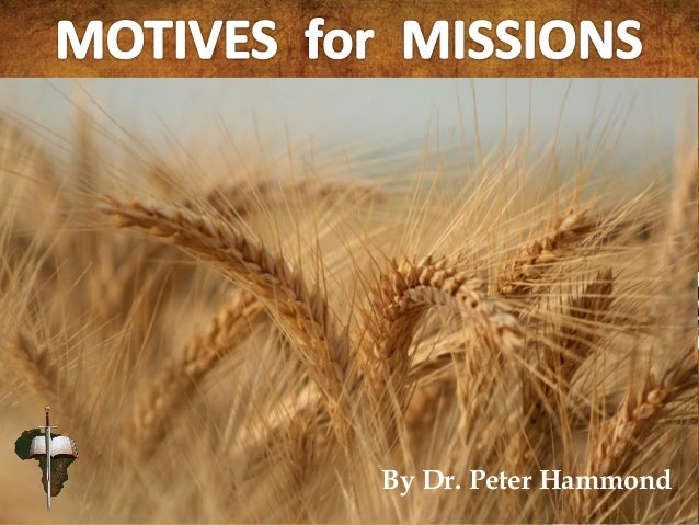 Motives for Missions