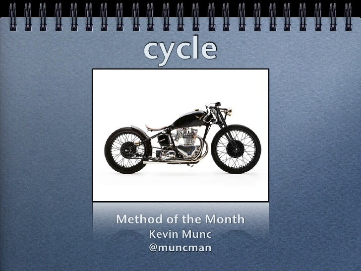 cycle (MOTM 2010.07)