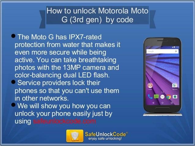 How to unlock motorola moto g