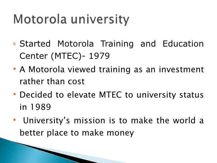 motorola case study analysis Iridium, the global satellite phone company backed by motorola (mot), filed for bankruptcy in 1999, after the company had spent $5 billion to build and launch its infrastructure of satellites to.
