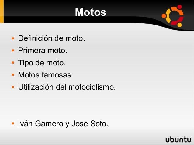 Trabajo sobre Moto jose ivan
