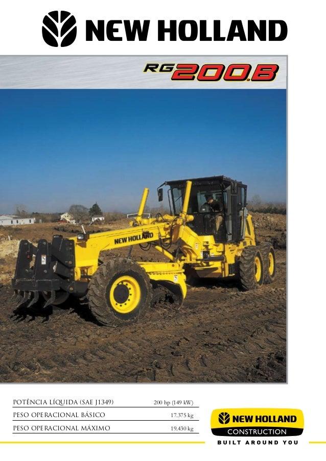 Motonivelaora new holland rg 200.b