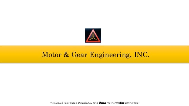 Motor And Gear Engineering Specialized In Design