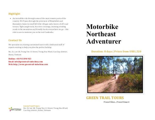 Motorbike northeast adventurer - Set Departure 2015