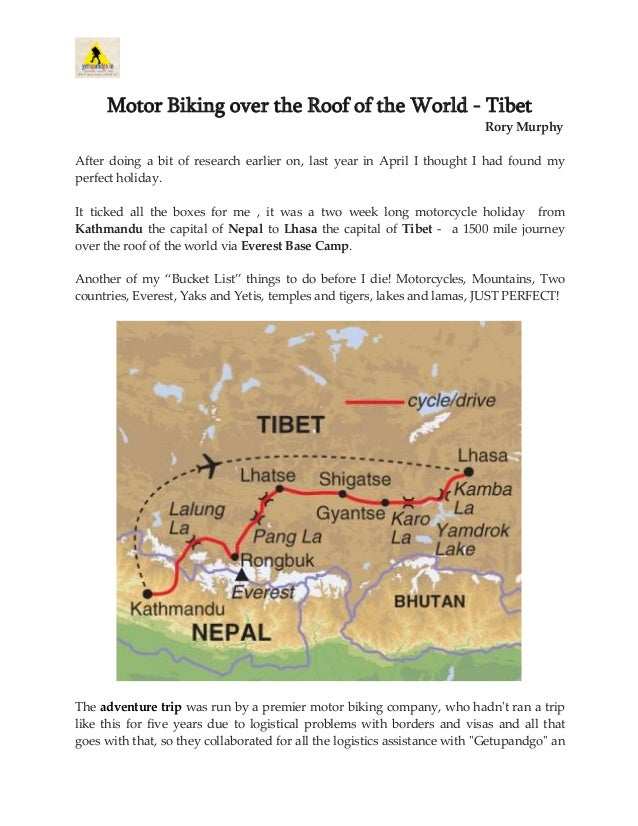 Motor Biking over the Roof of the World - Tibet