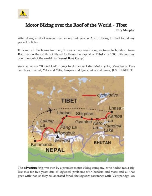 Motor Biking over the Roof of the World - Tibet