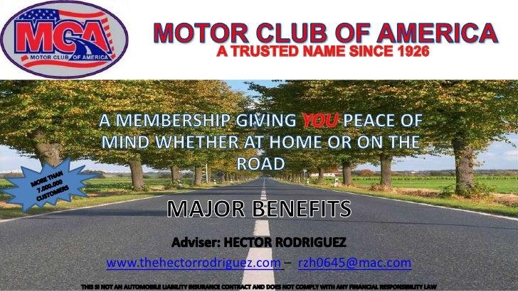 Motor Club Of America English