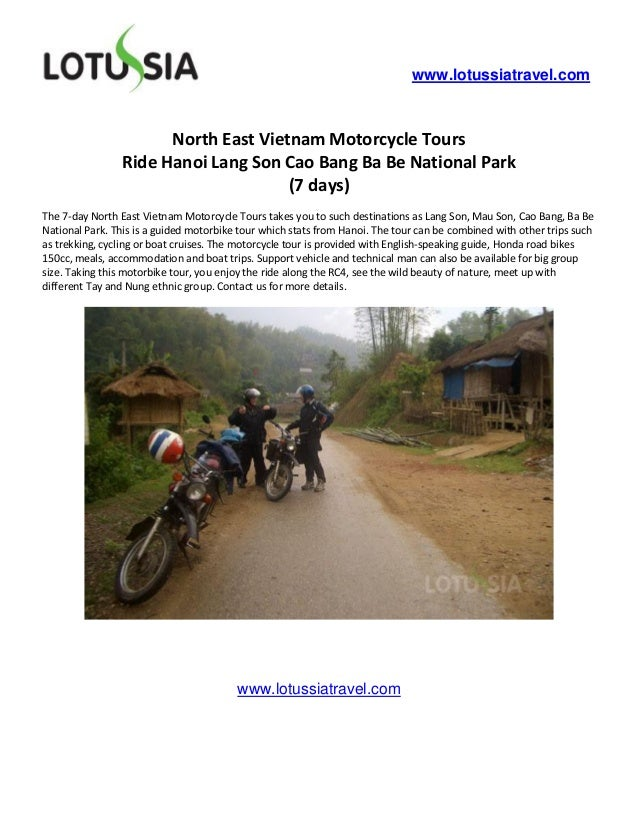 www.lotussiatravel.com                      North East Vietnam Motorcycle Tours                Ride Hanoi Lang Son Cao Ban...